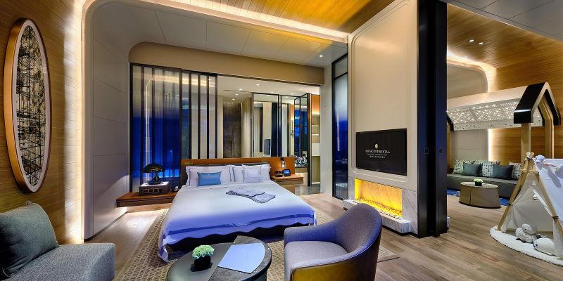 Shimano Shenkeng Intercontinental Hotel Zimmer